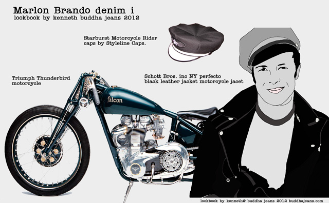 Marlon-Brando-look-book. The classic biker look.